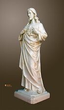 Statua Sacro Cuore di Gesù effetto invecchiato lucido cm50cm