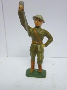 Vintage Barclay Manoil Cast Iron Toy Soldier w/ Baton