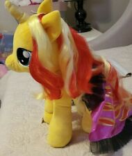 Build a Bear My Little Pony Yellow Sunset Shimmer & Cape Limited Edition Retired