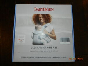 Baby Bjorn Baby Carrier One Air (Silver, 3D Mesh) (BabyBjorn) NEW
