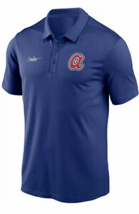 MSRP$55 Nike Men's Atlanta Braves Blue Cooperstown Vintage DriFIT Franchise Polo
