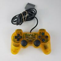 Official Sony Playstation 1 RARE NEON YELLOW SCPH-1200 Dualshock Controller OEM