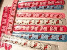 12 SLAP BRACELETS ( HELLO KITTY ) LOT OF 12 CARNIVAL PARTY TOYS FAVORS