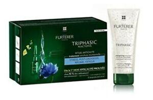 Rene Furterer TRIPHASIC Reactional Hair Loss 3 Months Treatment + Free Shampoo