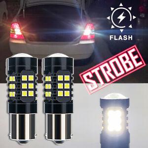 LED 1156 Strobe Blinking Flashing Back Up Bulb white for Honda Ni Safety Warning