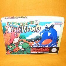 VINTAGE 1995 SUPER NINTENDO SNES SUPER MARIO WORLD 2 YOSHI'S ISLAND GAME BOXED