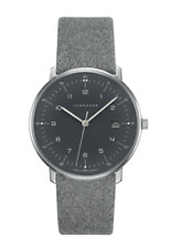 Junghans 041/4818.00 Max Bill Quartz Grey Leather Strap 38mm Case Watch