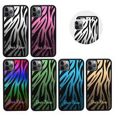 Funda carcasa personalizada para iPhone 5s SE 6s 7 8 XS 11 Pro Max PLUS X Estampado De Cebra