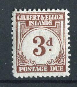 Gilbert & Ellice Islands KGVI 1940 Postage Due 3d brown SG.D3 MLH