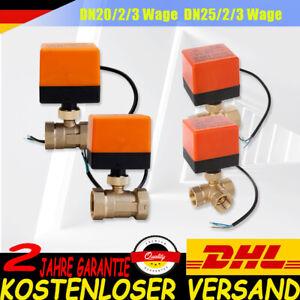 2/3 Wege Ventil Zonenventil Elektrisch Kugelventil 1 Zoll Motorkugelhahn 230VZYH