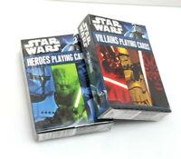 Star Wars Heroes & Villains Playing Card Set of 2 Sealed Decks
