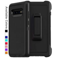 For Galaxy S10 / S10+ Plus / S10e Case Cover Shockproof Series with Belt Clip
