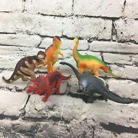 Dinosaur Figures Jurassic Prehistoric Animals Lot Of 5 T-Rex Triceratops Brach