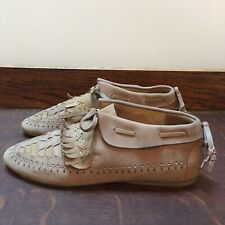 Hoss Intropia Size 5 Brown Leather Mocassin Shoes VGC