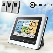 Digoo DG-TH8888Pro Color Wireless Weather Station Thermometer+3 Forecast Sensors