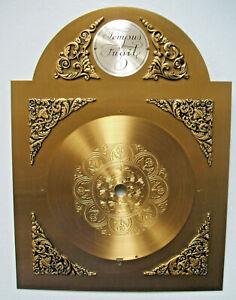 "Grandfather Clock Brass Face Dial - Surface Decorative Spandrells 8 x 10.5"""