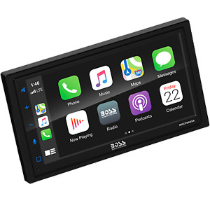 "Boss Touch Screen Car Stereo Double DIN Multimedia Player 6.75"" Apple CarPlay BT"