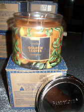 Partylite Golden Leaves Signature 3-wick Jar Candle Brand New Fall 2016 Nib