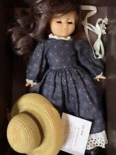 """Cr Club Compagnie Du Jouet 15"""" Brunette Girl in Dress & Hat France Vtg 11922"""