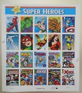 20 Marvel Comics SUPER HEROES 41¢ US PS Postage Stamps New & Unused