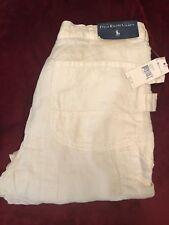Polo Ralph Lauren Men's Linen Utility Cargo Jeans (White) - 34W 34L
