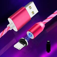 CYOO Flow Light LED leuchten Magnet Lade-/Datenkabel USB auf Lightning 1m - Pink