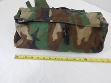 US Army Military Woodland BDU Fanny Pack with MOLLE attachment tan clips