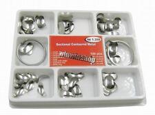 Dental Matrix Sectional Contoured Matrices Full Kit 100pcs 35 μm  + 2 Rings