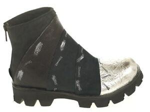 Papucei Schuhe Stiefelette Dallia schwarz/silber Gr.36 Original Neu und OVP