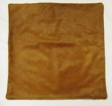 Cowhide leather cushion cover brown, hair on, south western/ ranch decor 25X25""