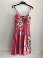 Tristan Ladies Pink Floral Dress Size 8 US Size 12 UK