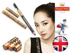 Waterproof Eyebrow Pencil With Brush in Black or Brown Colour Leopard Print UK