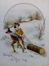 """1896 imprimir """"pequeño Merry Makers"""" Constanza Haslewood-traer Yule Registro Navidad"""