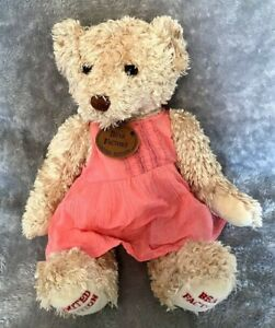 """Bear Factory Limited Edition Pink Dress Bear with Tag 15"""" Soft Toy"""