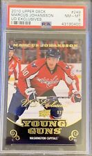 2010 11 UPPER DECK Marcus Johansson YOUNG GUNS EXCLUSIVES RC ROOKIE PSA 8 #/100