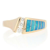 NEW Kabana Opal & Diamond Ring - 14k Yellow Gold Size 6 3/4 Women's .13ctw