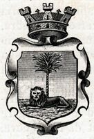 Palmanova:Piccolo Stemma del 1905.Udine.Friuli.Stampa Antica + Passepartout.1905
