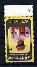 St VINCENT 1982 BIRTH OF PRINCE WILLIAM $6 VALUE WITH INVERTED WATERMARK MNH
