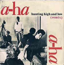 "45 TOURS / 7"" SINGLE--AHA / A-HA--HUNTING HIGH AND LOW / THE BLUE SKY--1986"