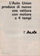 Brochure Depliant Auto-Union Audi 1965 Italiano