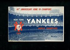 1963 Yankees Program Score Card Orioles Pepitone Bobby Richardson Boog Powell HR