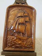 Nautical Decor, Faux Wood Clipper Ship Plaque
