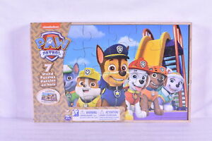 Nickelodeon Paw Patrol 7 Wood Jigsaw Puzzles In Wooden Storage Box