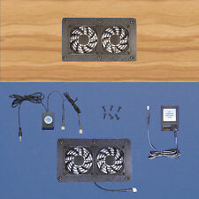AV Cabinet 12-volt trigger-controlled cooling fan system/ Home Theater