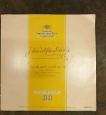 """10 """" lp DGG  Felix Mendelssohn-Bartholdy  Violinkonzert e-moll  Tibor Varga"""
