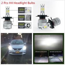 2 x White LED H4 Hi/Lo Dual Bulb Car Driving Fog Light Headlight 160W Waterproof