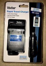 Vivitar Rapid Home/Car Charger for Panasonic DMW-BCG10 /BCF10 /BCJ13E Battery