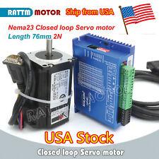 Usnema23 76mm 2nm Closed Loop Servostepper Motor Amphybrid Servo Driver Cnc Kit