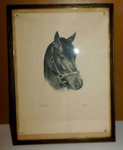 Vintage Kentucky Derby Winner 1958 Tim Tam Framed Print C. W. Ernst Talio-Crome