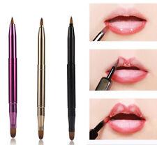 Women Portable Lip Brush Double-headed Retractable Lipstick Brush Makeup Tools